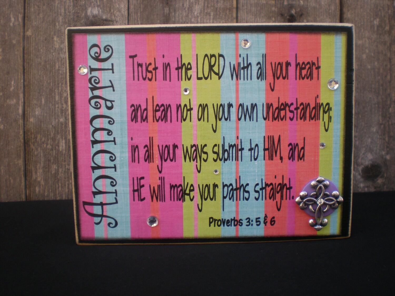 Wooden blocks home decor bible verse by memoriesoffaith on for Bible verse decor