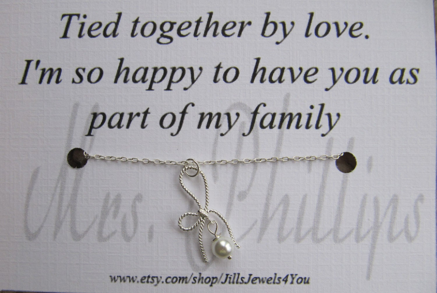 ... Card- Step Daughter Gift - tied together by love - Personalized Gift
