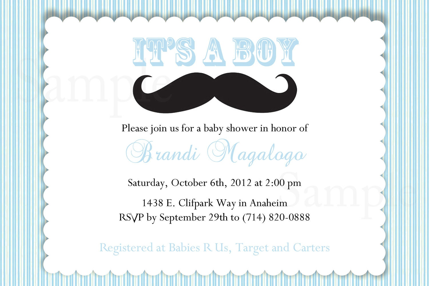 it 39 s a boy mustache baby shower invitation by thelovelymemories