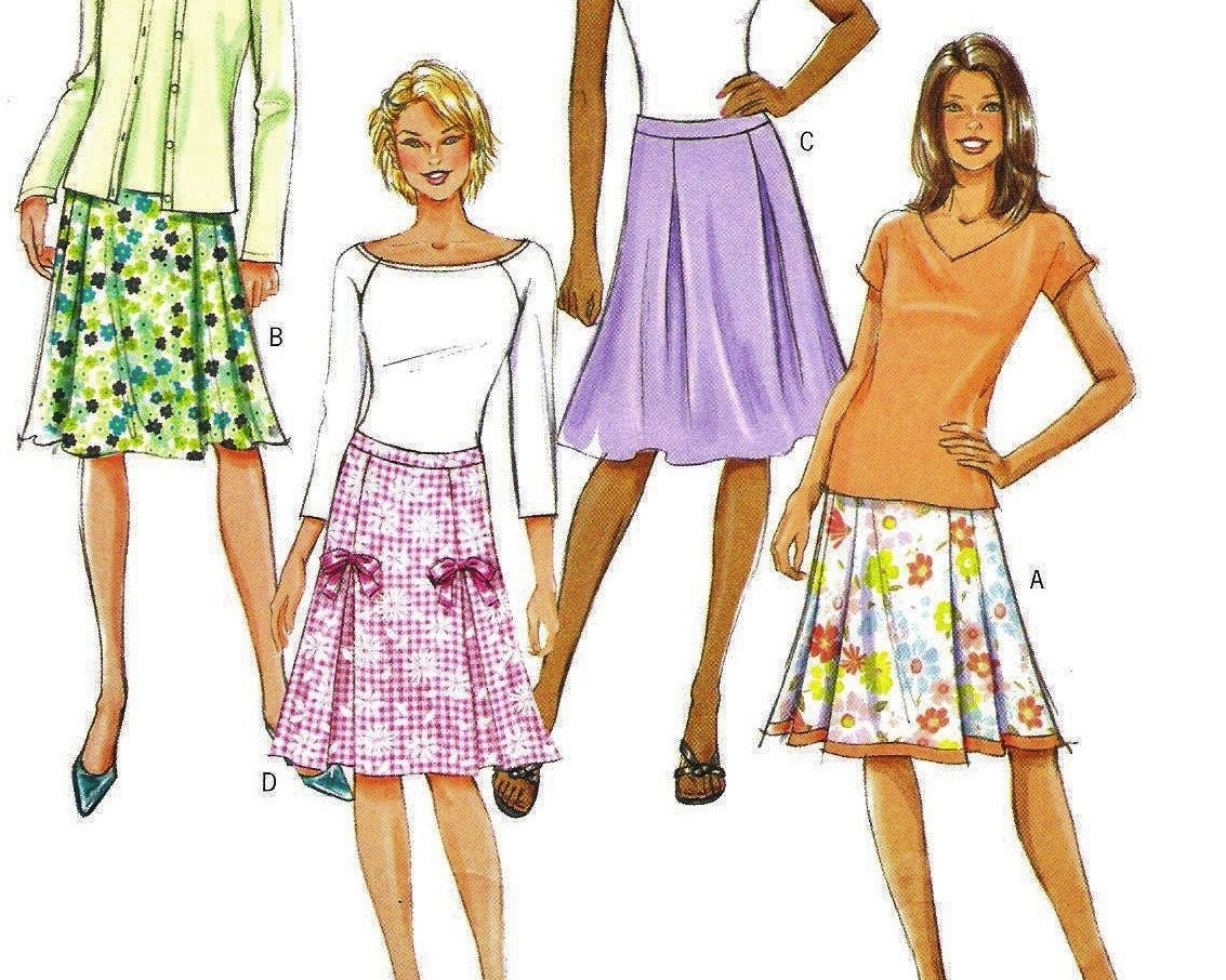 pleated a line skirt pattern butterick 4519 misses by
