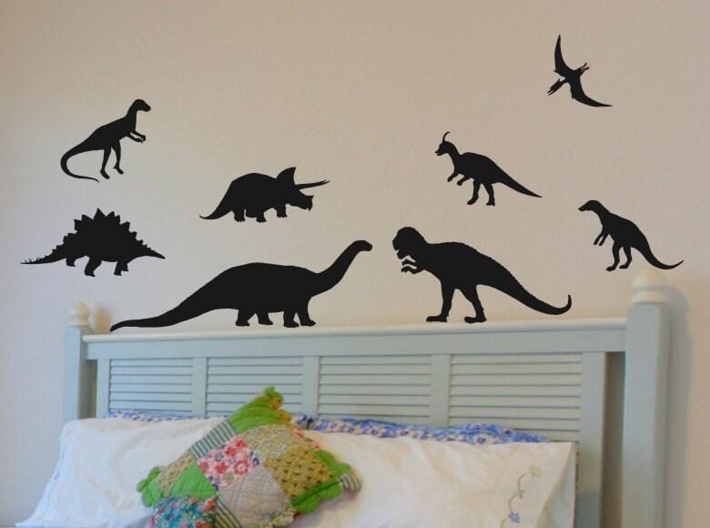 Dinosaur wall decals set of 8 great wall decor by vgwalldecals for Nice ideas dinosaur decals for walls