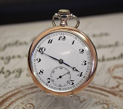 Antique 800 Solid Silver Alpina Pocket Watch  Completely serviced.