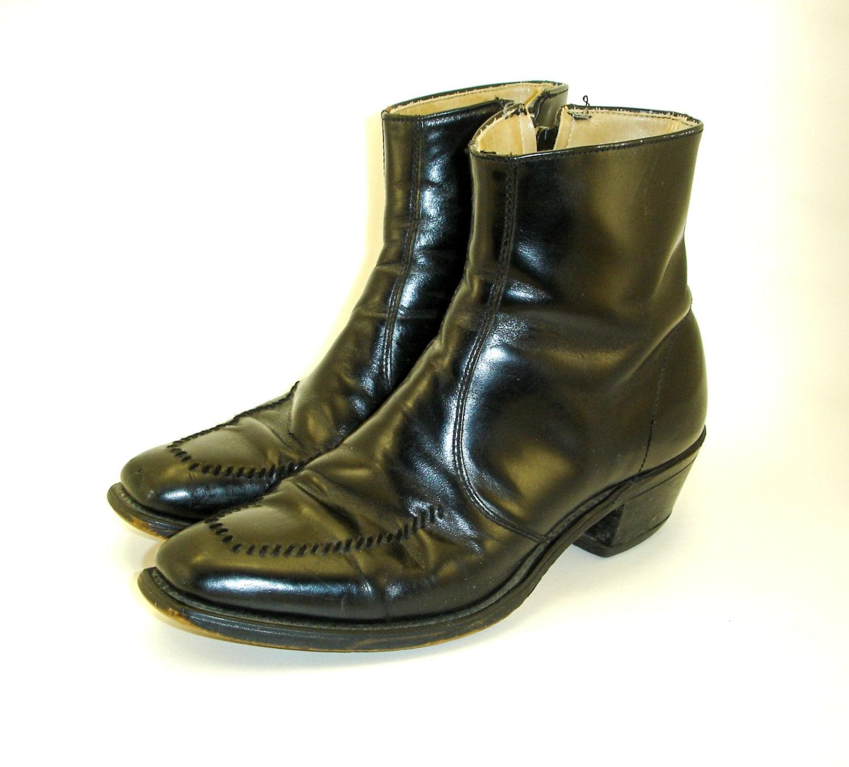 60s 70s mod beatle boots mens vintage black by