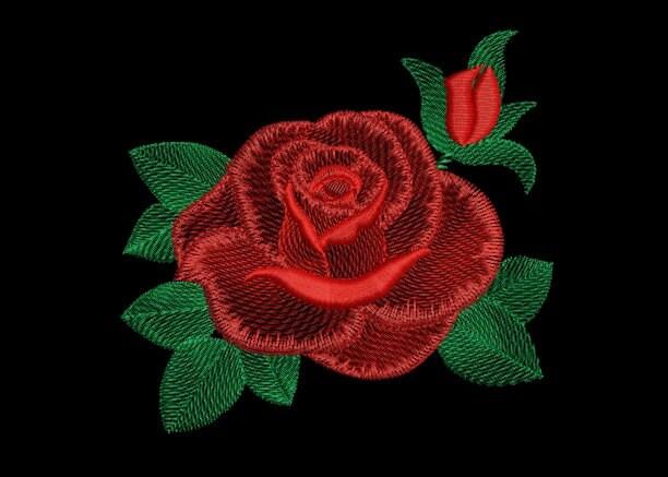 Розы вышивка машинная 65