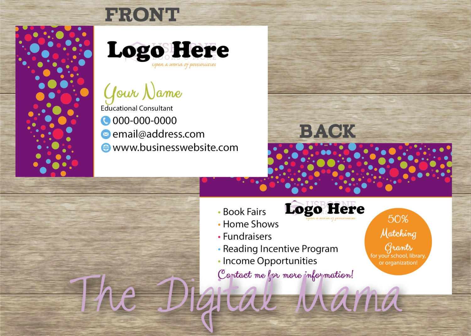 books business card template | datariouruguay