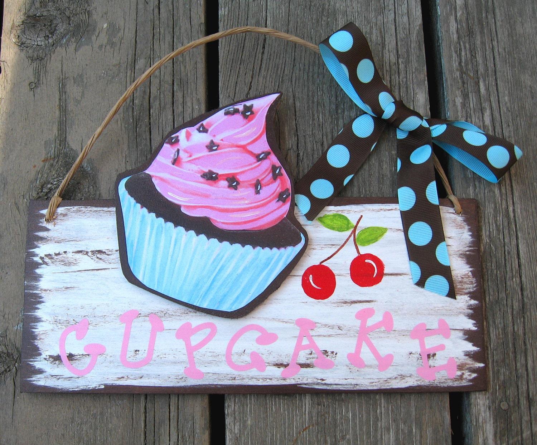 Cupcake Крытый Открытый Войти древесины Storytime АРТ