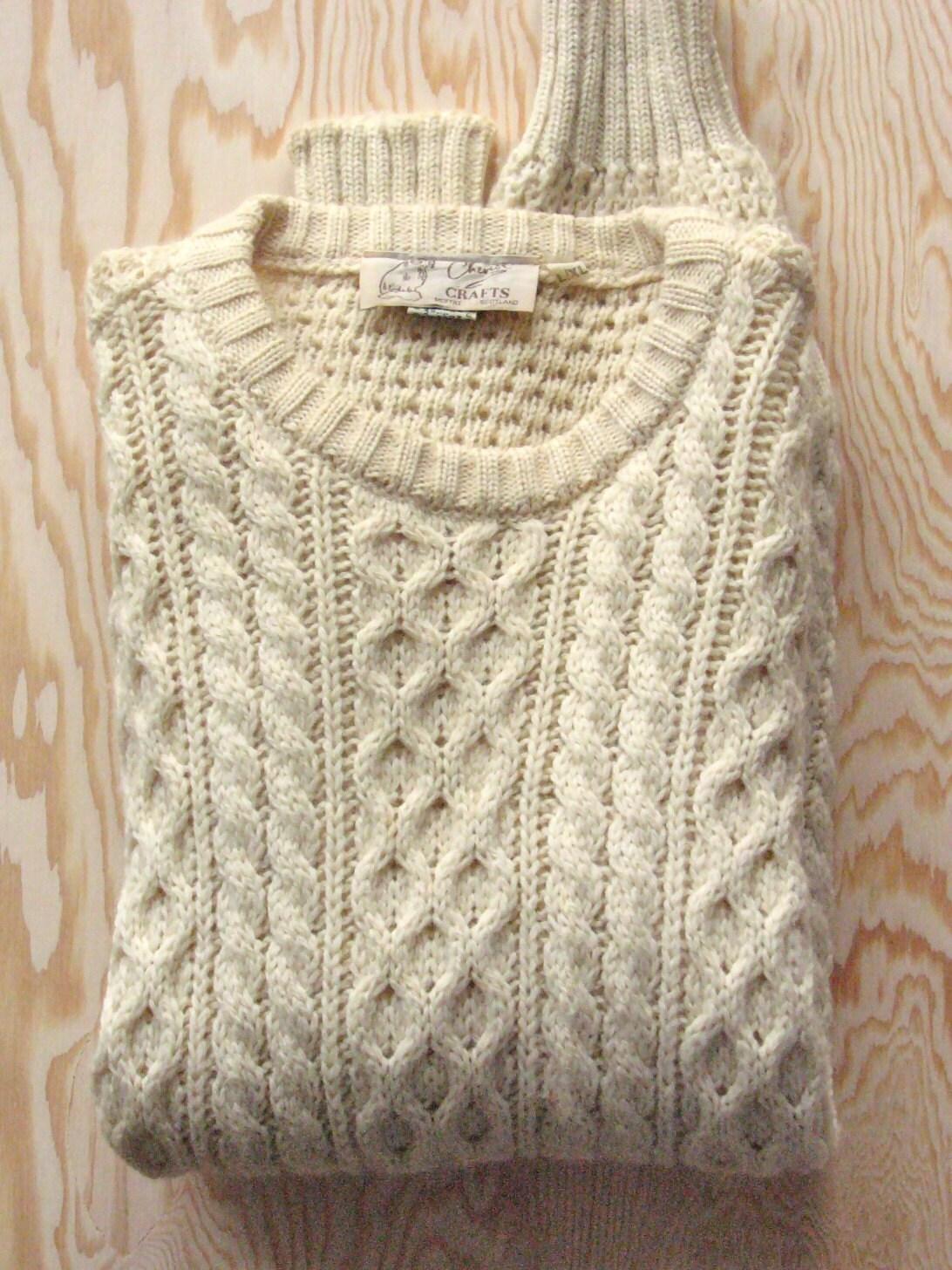Vintage Scottish Fisherman S Sweater By Hawkeyeandtrapper