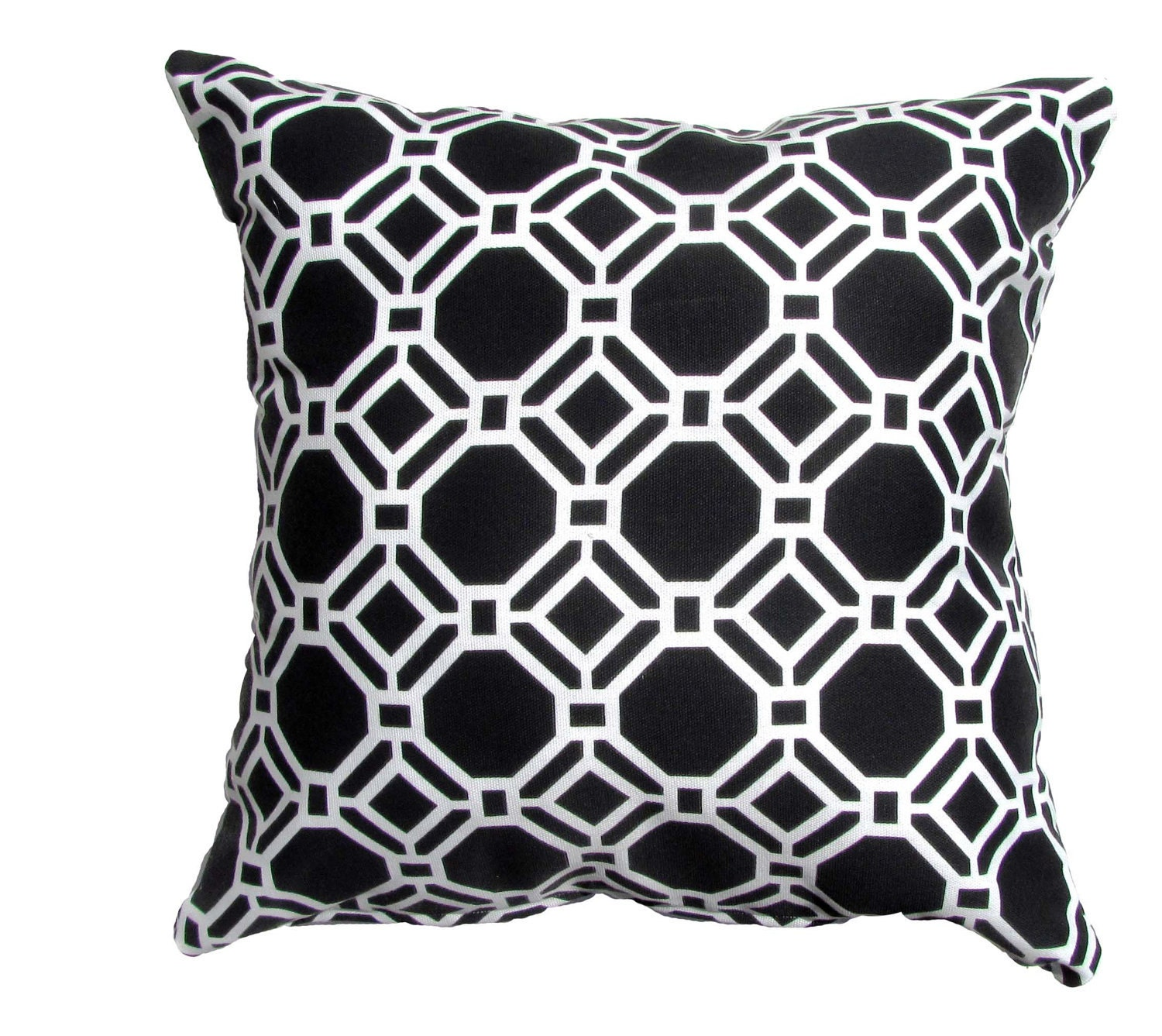 Items similar to Black and White Pillow Cover Modern Pillow Cover Black/White Geometric Shapes ...