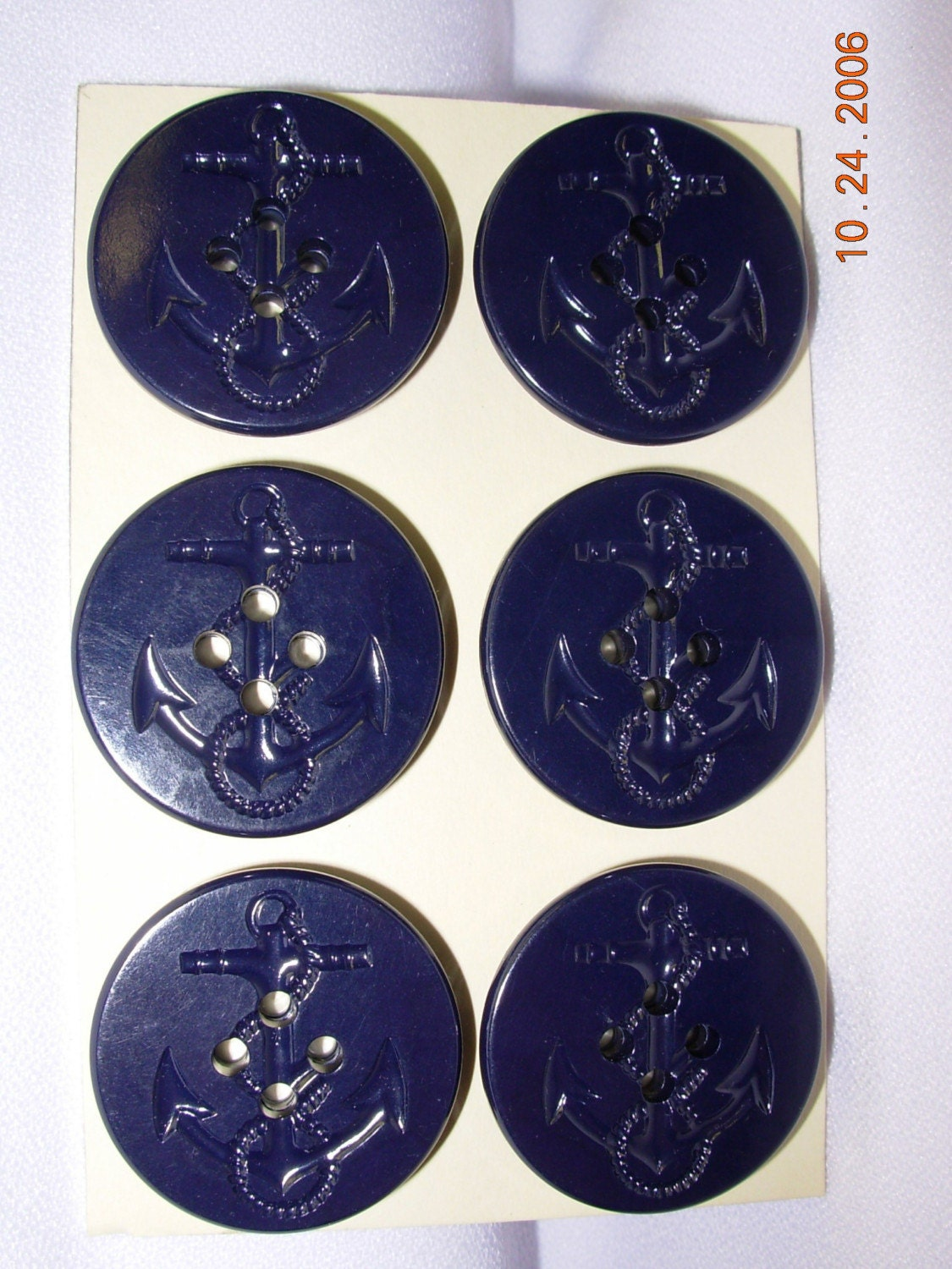 50 Ralph Lauren Peacoat Anchor Buttons Med Navy 25 Pc