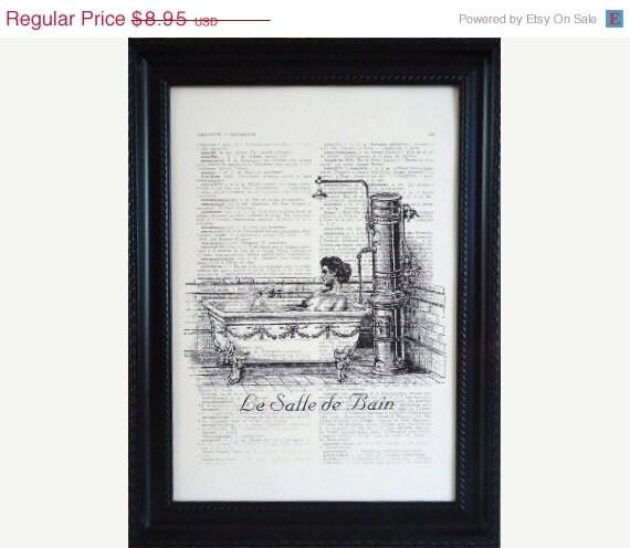 BATHROOM ART Print PARIS le salle de bain On An by