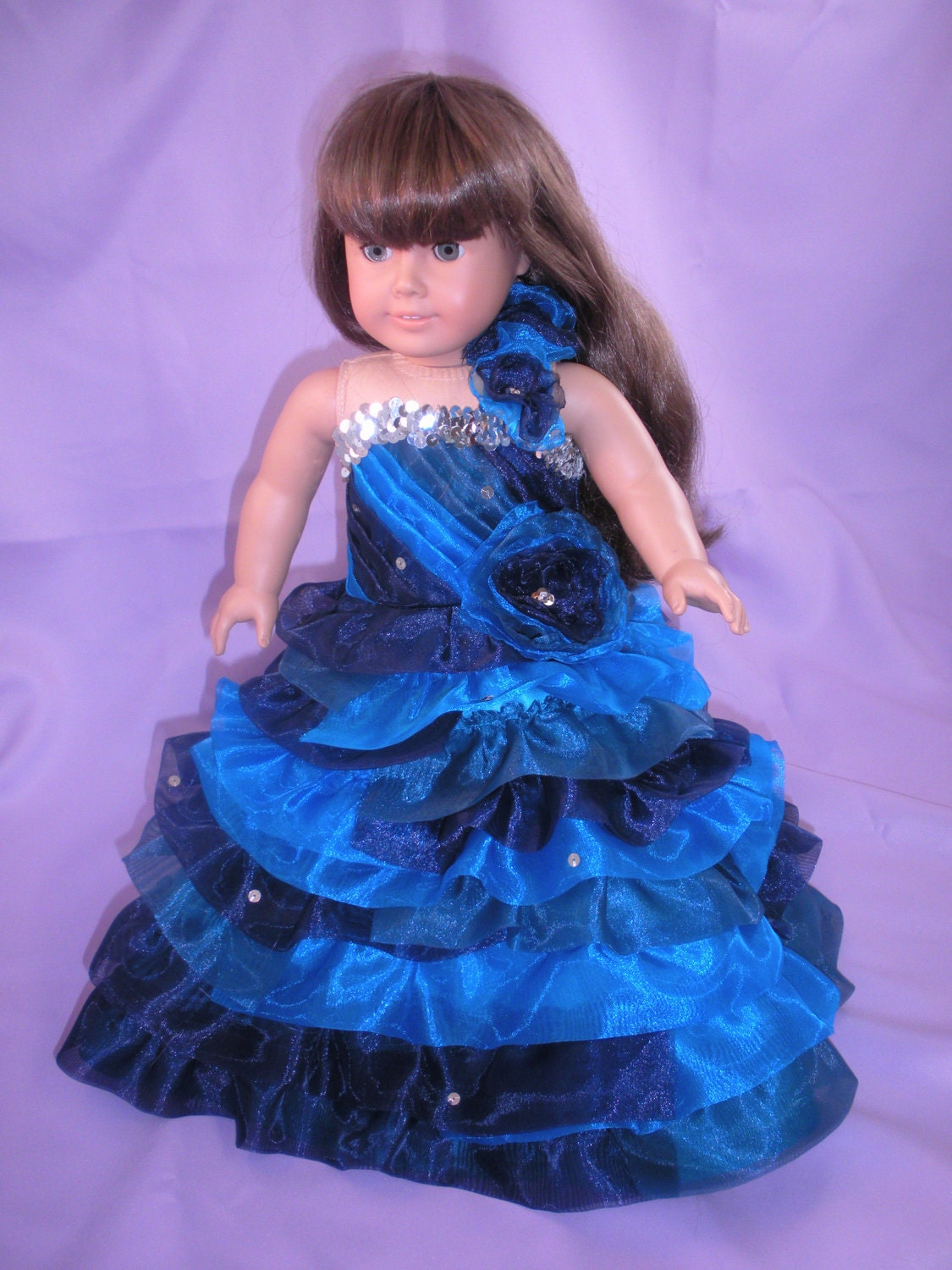 Quinceanera Dress for American Girl Doll or Wire Mannequin - Custom Made
