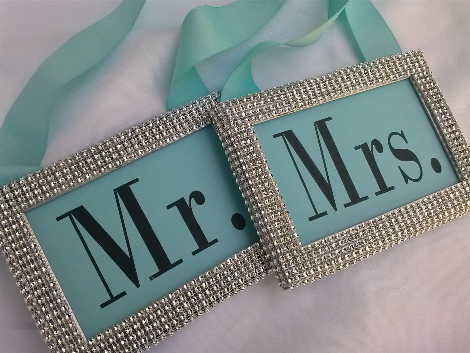 Sweetheart Table Signs - Tiffany & Co. Inspired Wedding Signs - Tiffany Wedding Signs