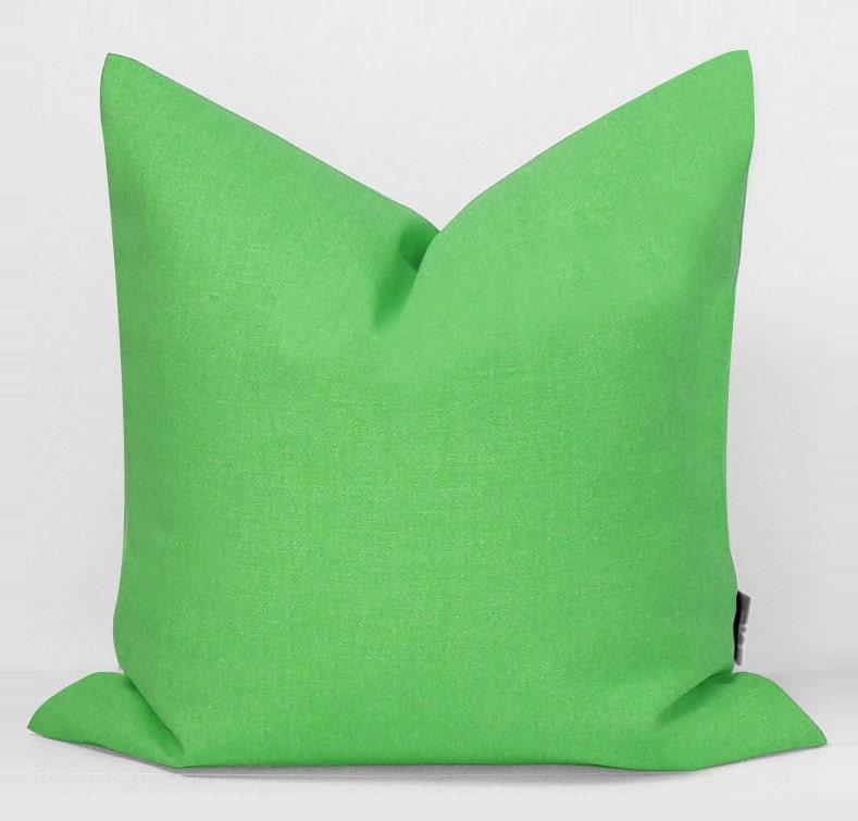 Sukan / 1 Linen Pillow Covers Green large pillow euro by sukanart