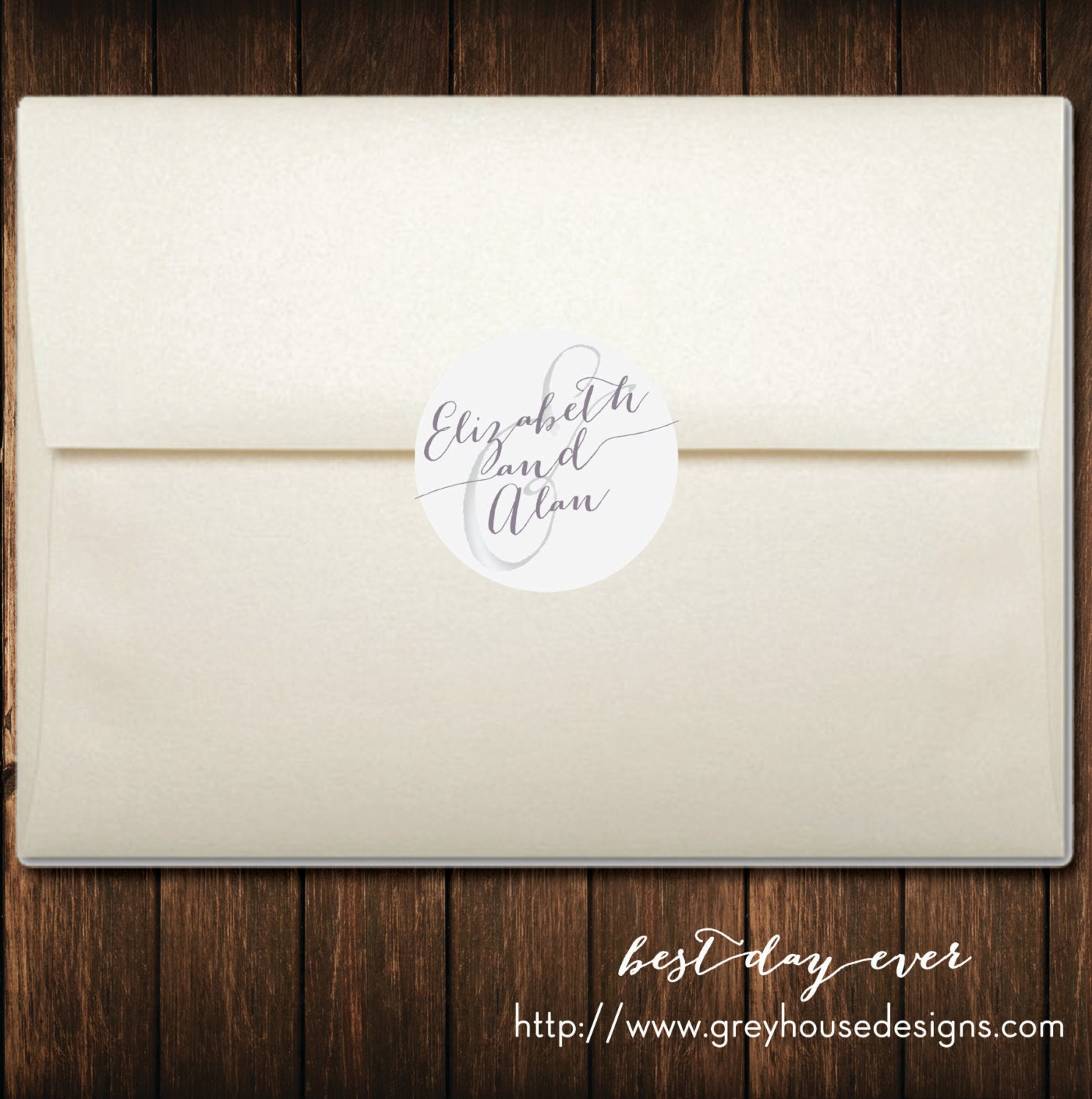 Best Day Ever Printable Wedding Envelope by