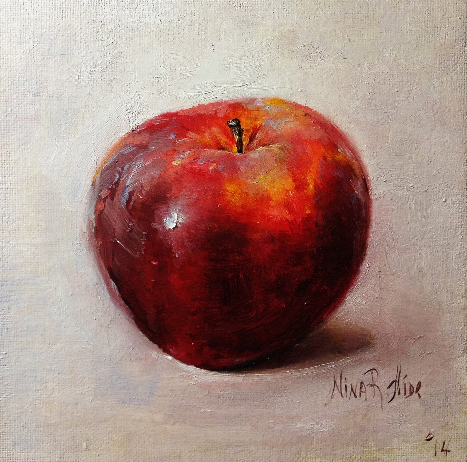 Apple fruit painting