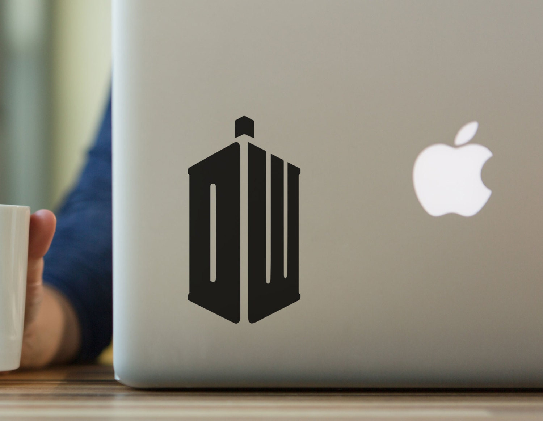 Dr Who Tardis Inspired Decal Sticker Laptop Sticker MacBook Sticker Tablet Sticker Car Bumper Sticker Gift For Dr Who Tardis Fan