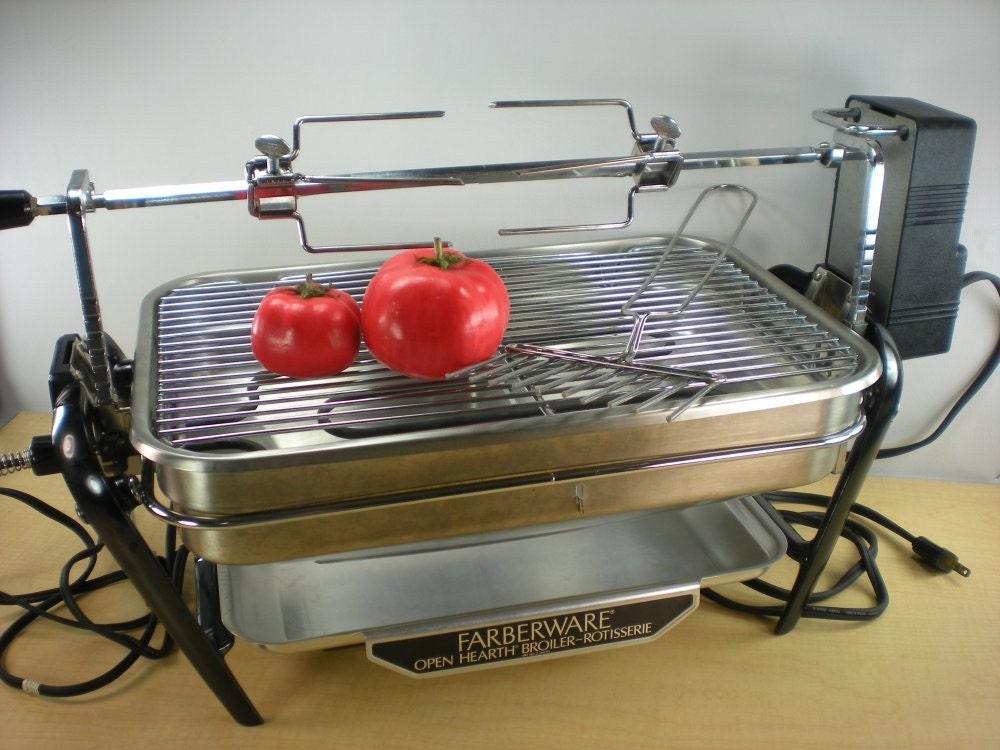 Electric Grill: Farberware Electric Grill Rotisserie