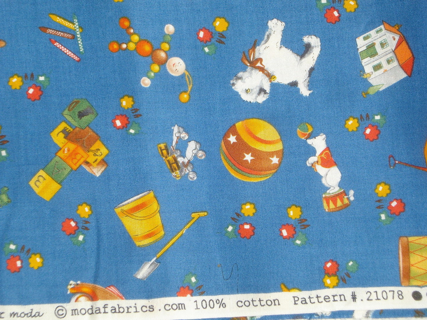 fq or more american jane look and learn toy box blue moda fabrics