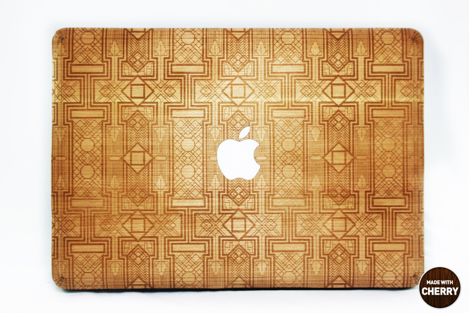 Art Deco Gatsby Real Wood Skin for Macbook Pro and Air free shipping worldwide