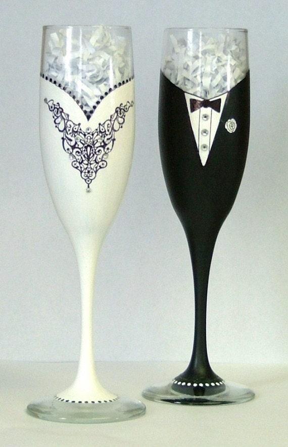 Bride Wine Glass With Tulle