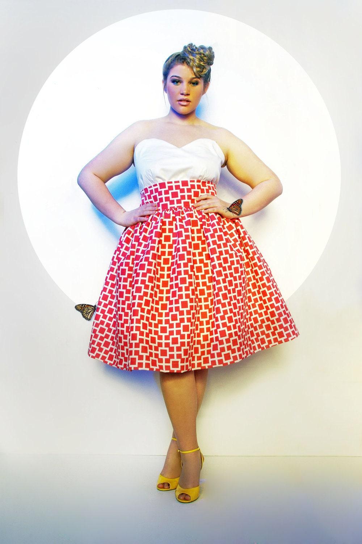 jibri plus size high waist flare skirt limited by jibrionline