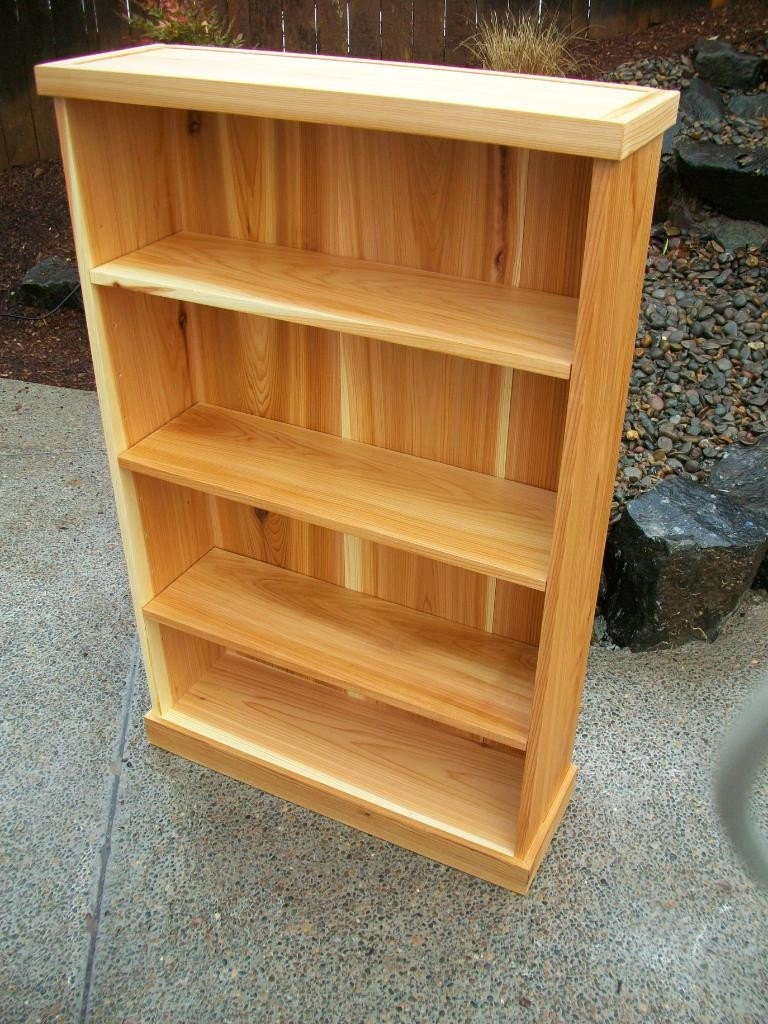 Solid Cedar Bookcase Bookshelf With Adjustable By Thudson721