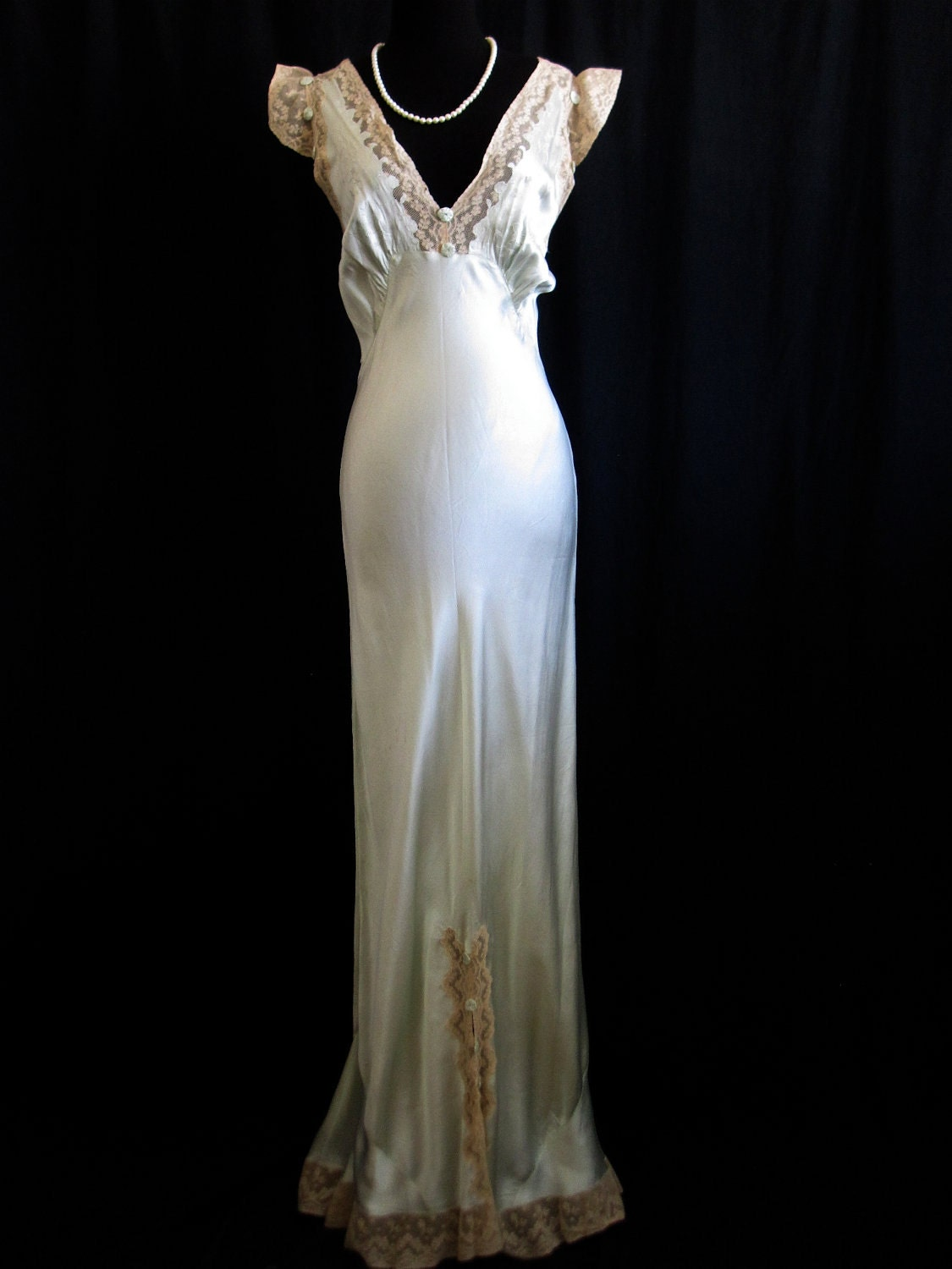 1930s Satin Evening Gown