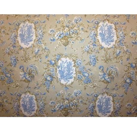 French Toile Fabric Toile Designer Drapery by VintageCarolina