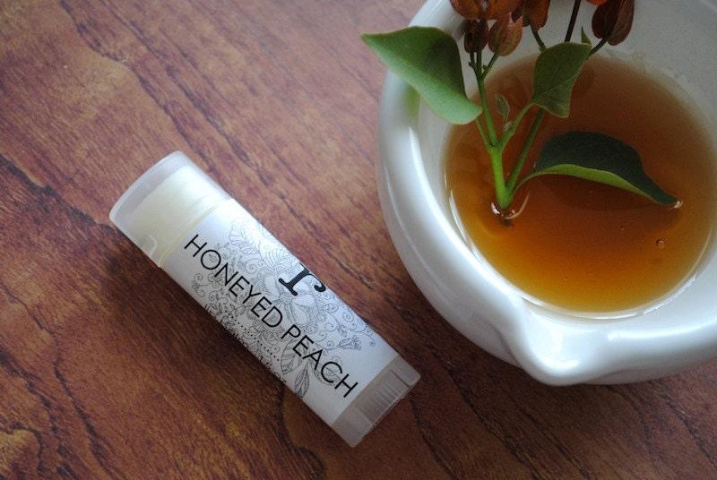 Honeyed Peach Lip Balm - Shea Butter, Coconut Oil, Beeswax, Honey and Peach