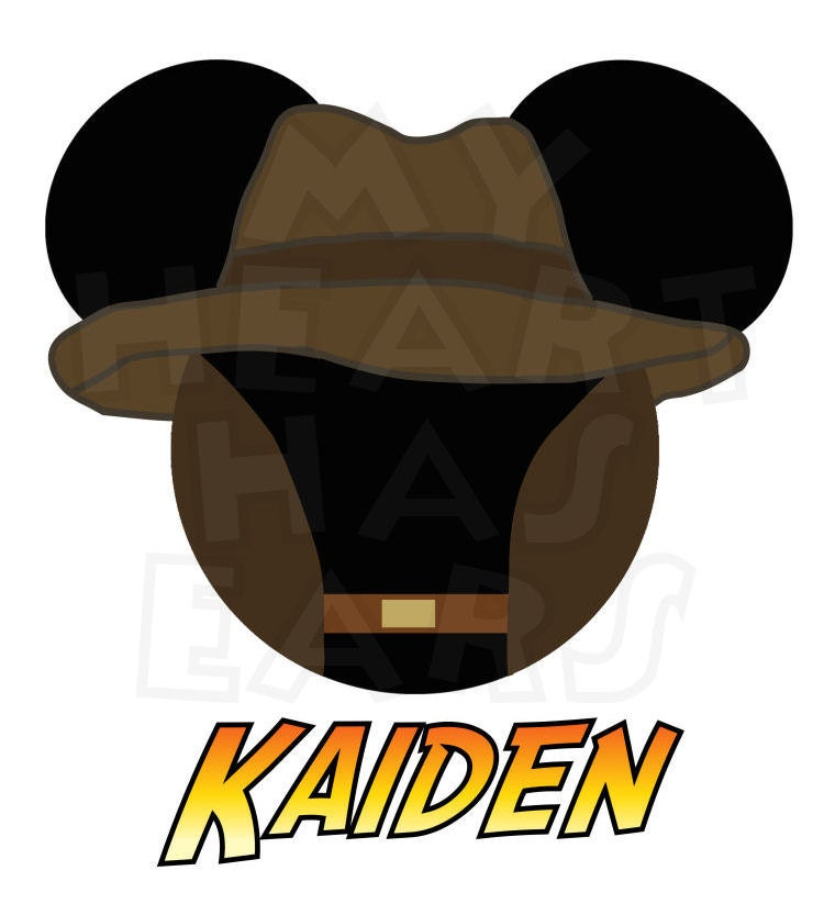 Printable diy mickey mouse as indiana jones personalized for Indiana jones clipart