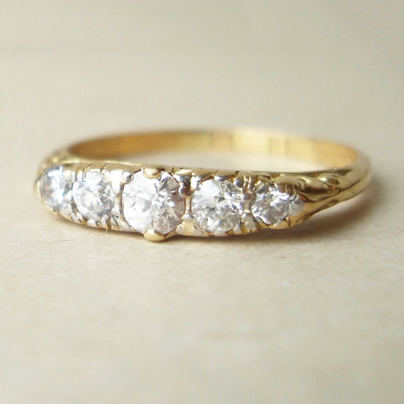 antique five eternity ring by