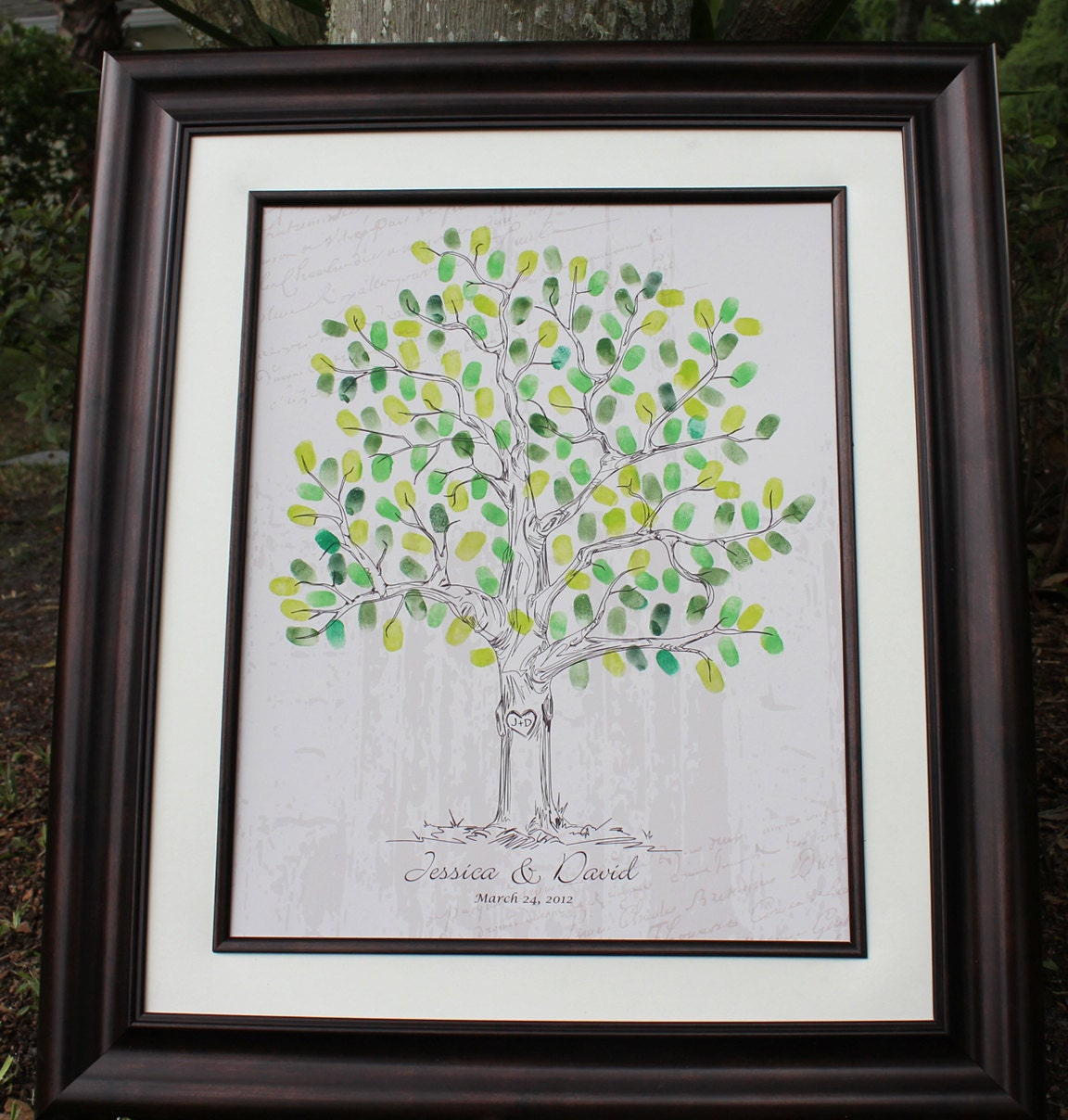 Wedding Guest Sign In Unique Book Ideas Alternative Thumbprint Tree Fingerprint Drawn