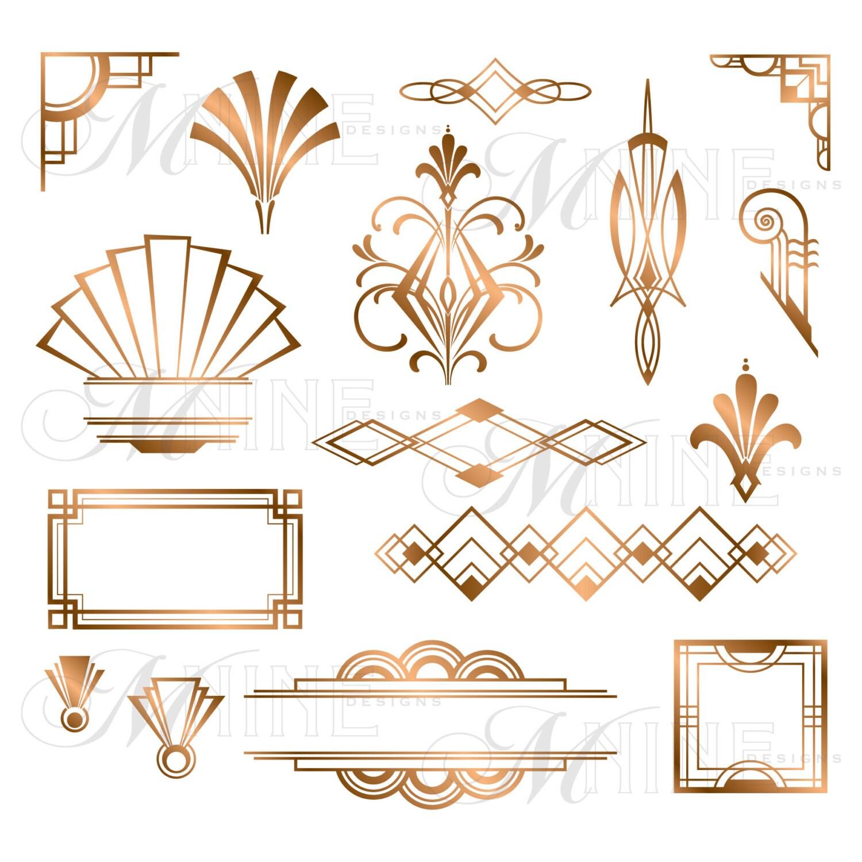 Spark MNINEdesigns ART DECO Bronze Metallic Style Design Elements