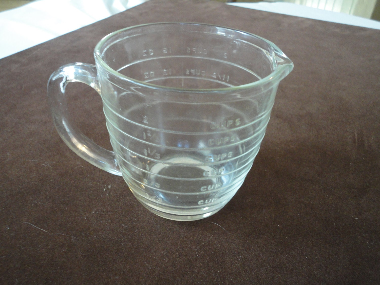 Vintage Measuring Cup Clear Glass Measuring Cup By
