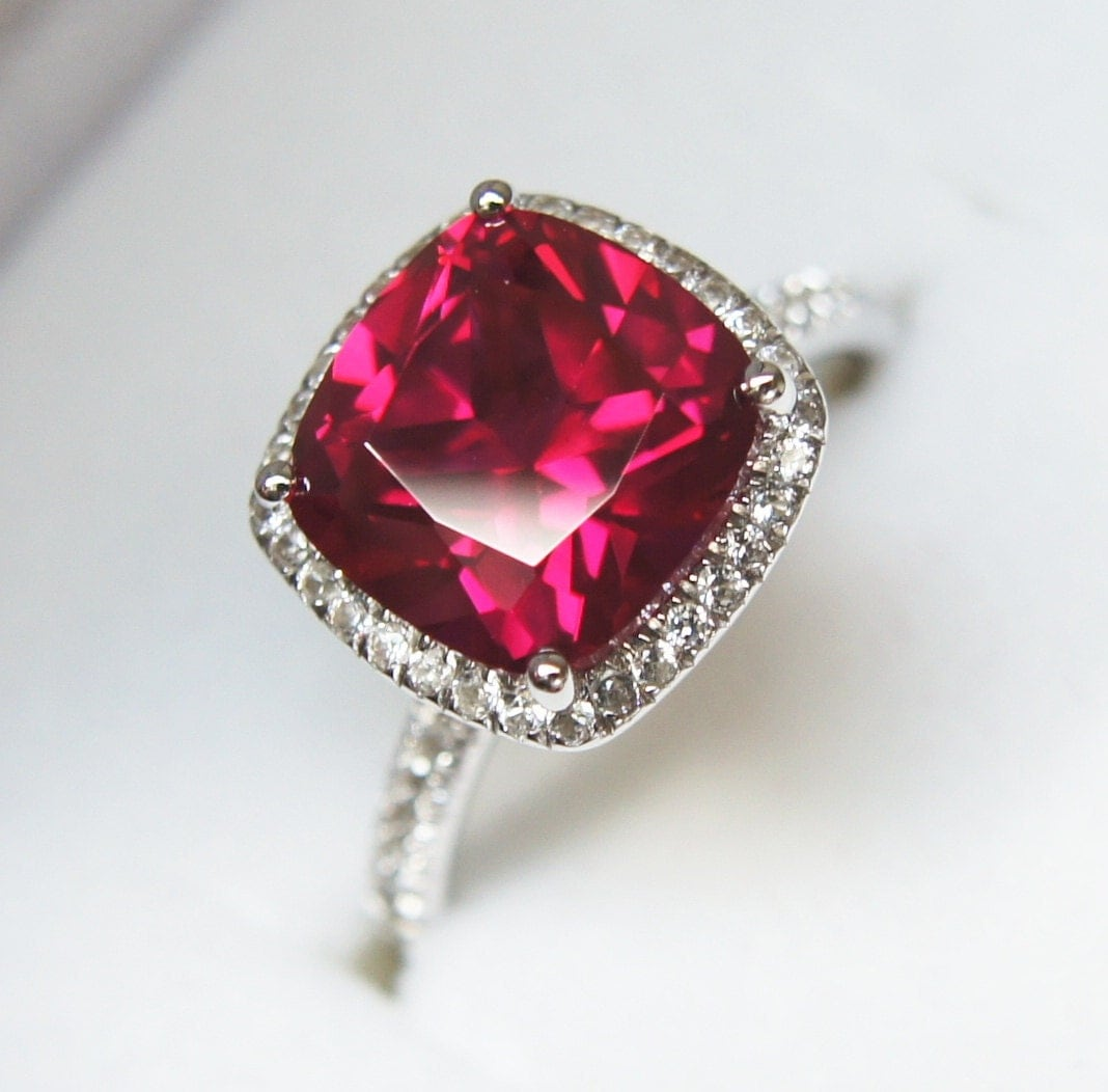 Silver Ruby Rings Uk