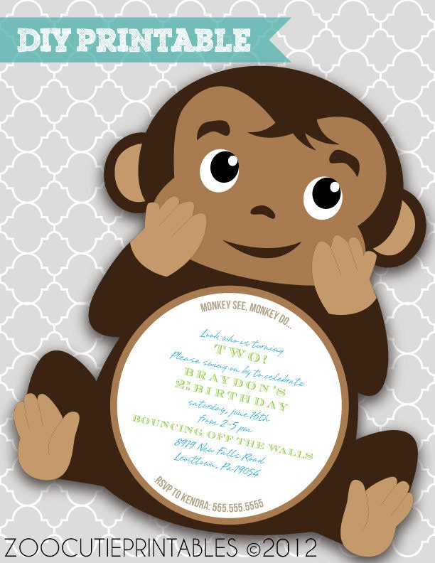 DIY Monkey Invitations