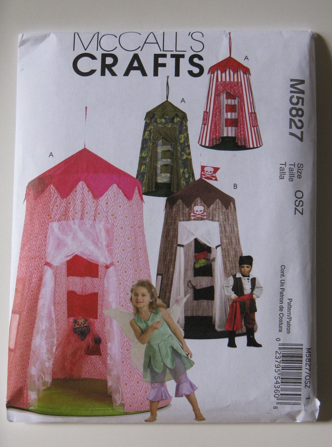 McCall's Crafts Sewing Pattern M5827 Play Canopy New and Uncut Pattern