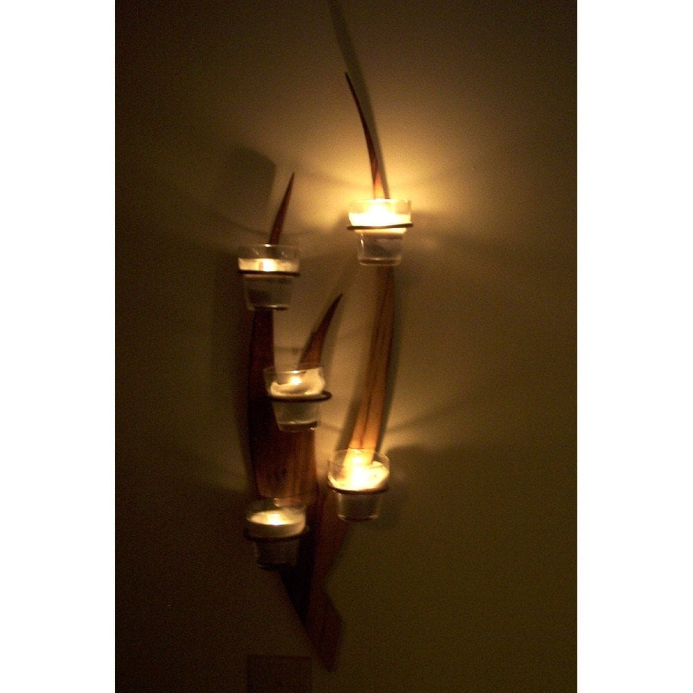 Wall Candle Sconces Etsy : Candle Wall Sconce by BarnWoodFurniture on Etsy