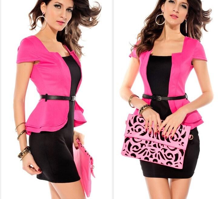 2014 new fashion spring summer office lady short mini dress suit three colors three sizes - bridesmaidsdress