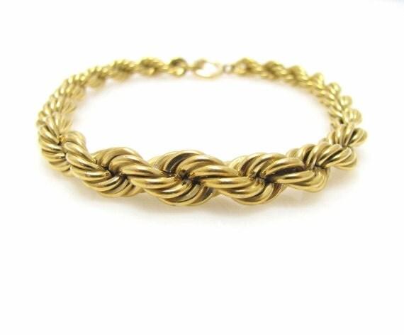 krementz twisted rope bracelet by cjvintagetreasures on etsy