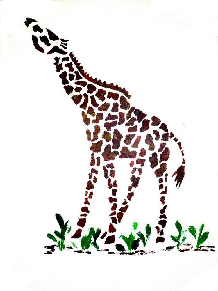 Giraffe Wall Stencil Animal Wall Stencil Nursery Decor