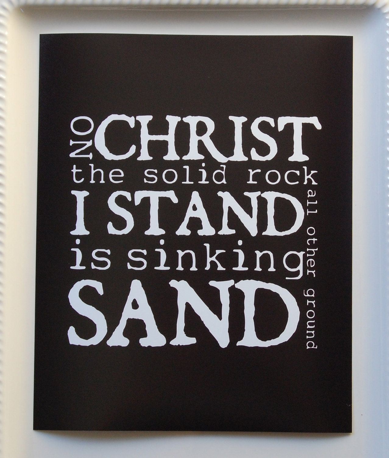 Clearance Solid Rock Print Black 8x10 Ready To By