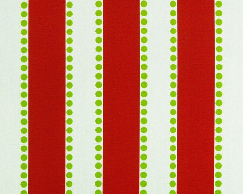 Christmas Home Decor Fabric Yardage - Red and Green Stripe by Premier ...