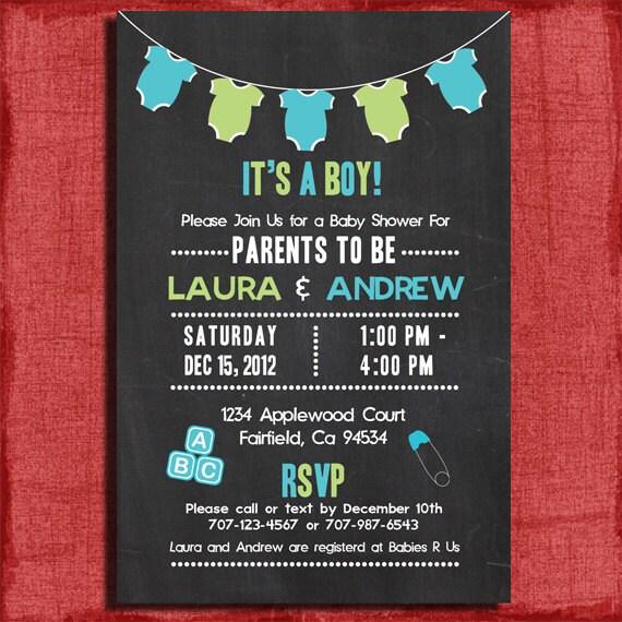 Printable Boy Baby Shower Invitations is nice invitation example