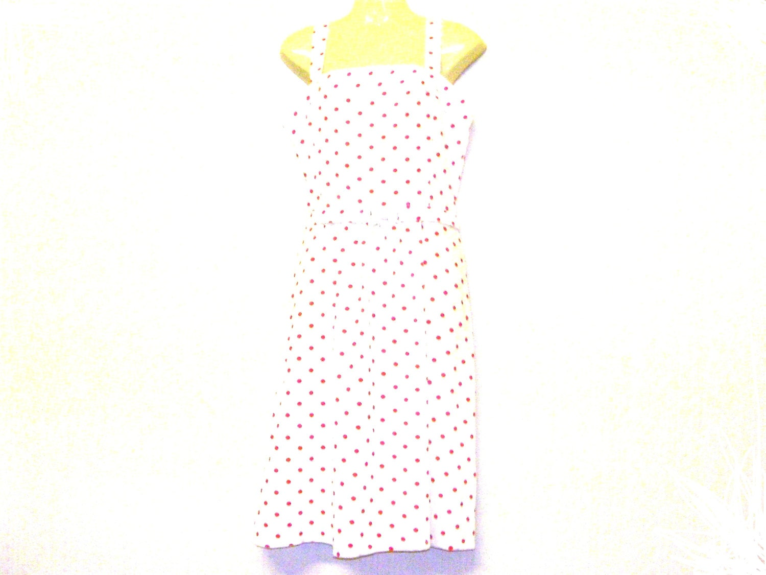 Circle Dress Swing Dress Spotted Dress Knee Length Dress Size 10 Size 8 By Rebeccas Clothes