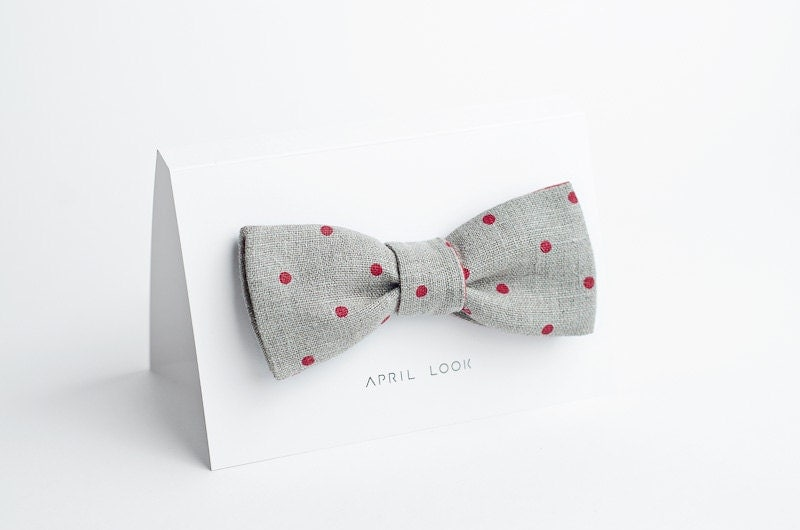 Dotted bow tie for men - double sided - APRILLOOKshop