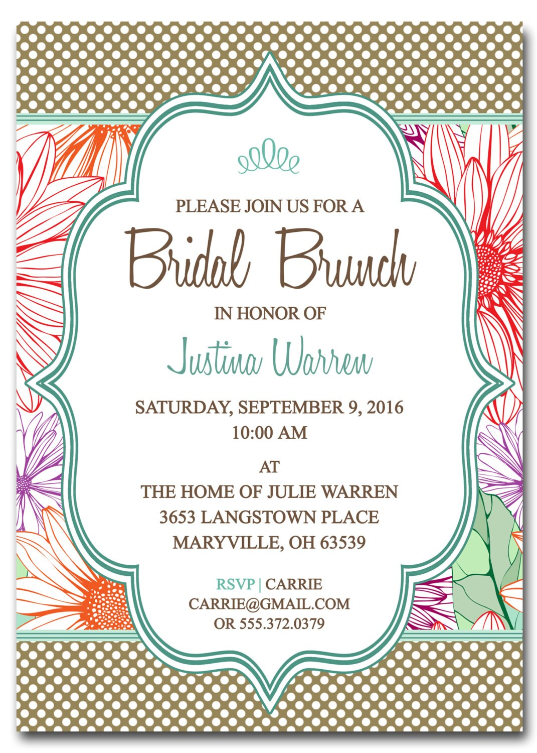 Bridal Shower Invitations Free Printable Bridal Shower Brunch