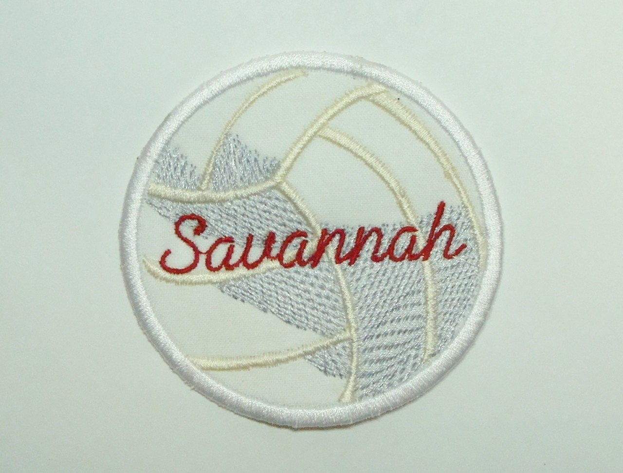 Volleyball patch embroidered diy clothing by sewproembroidery
