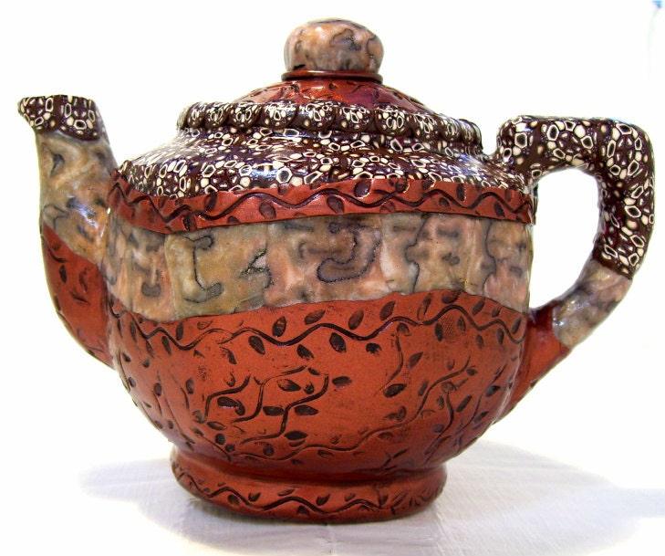 Teapot upcycled houseware