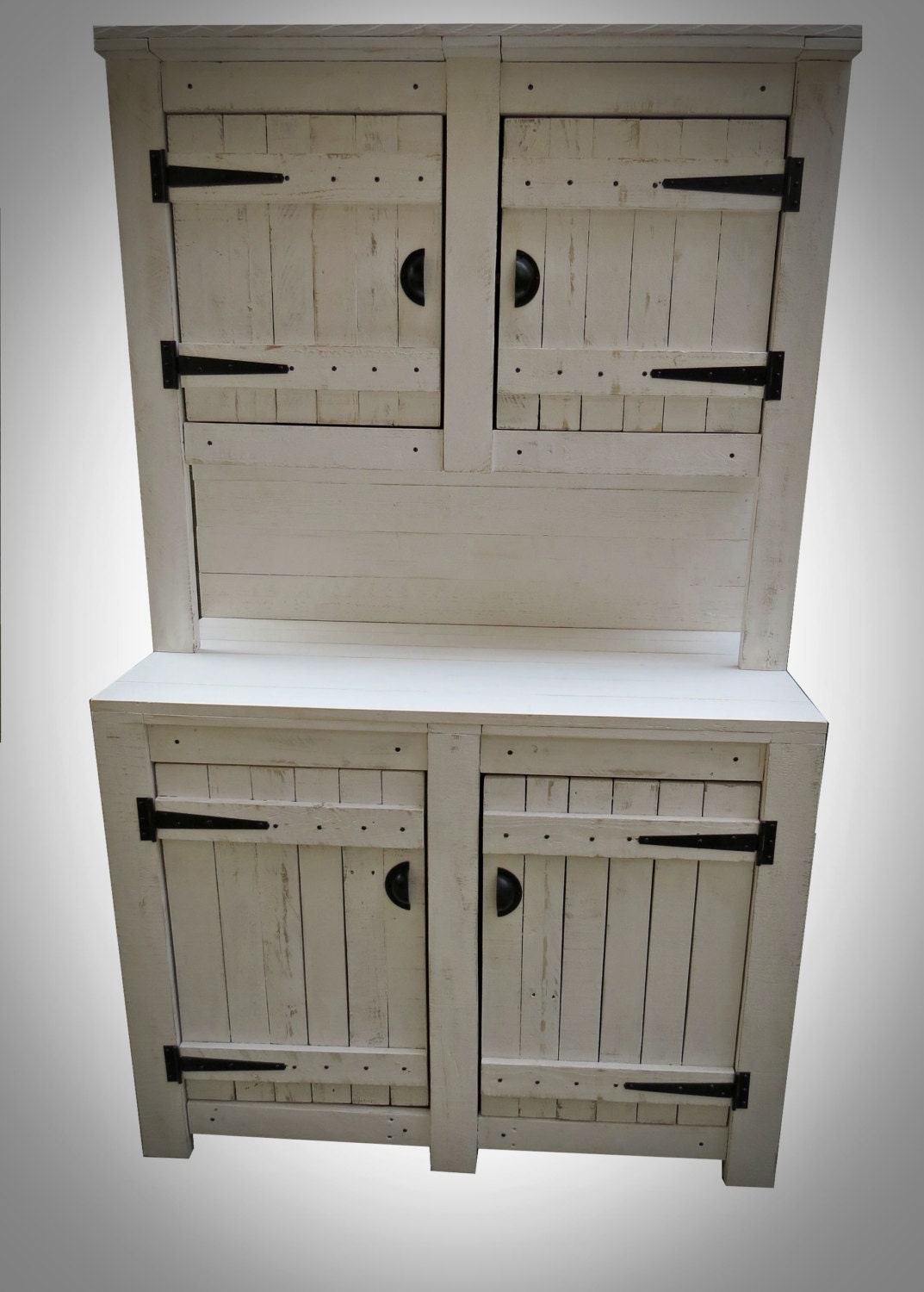 Kitchen Dresser in Chalky White finish. Pallet Furniture RusticCottage Style. Handmade